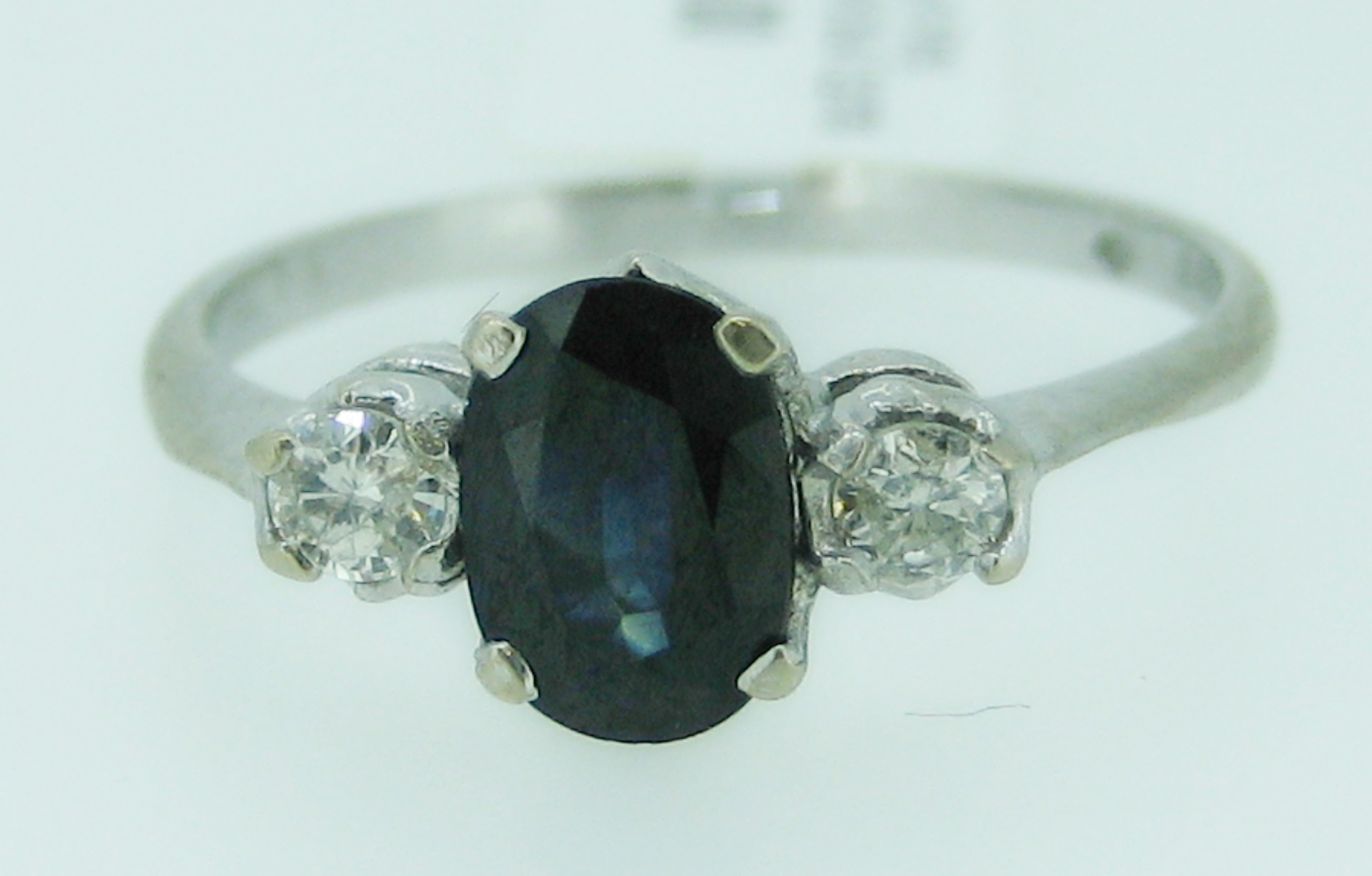 hand ring forged a mcclelland mcteigue platinum item sapphire blue dark